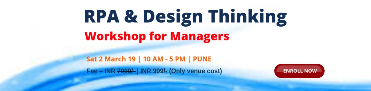 RPA & Design Thinking workshop for manager